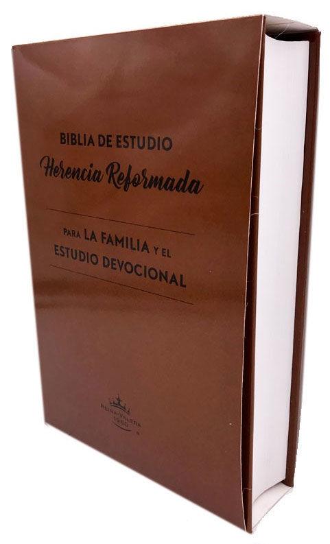 Biblia de estudio herencia reformada: para la familia y el estudio devocional>