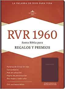 Biblia reina valera para regalos y premios, borgo�a imitaci�n piel  de B&H Espanol