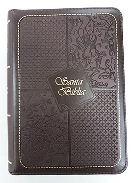 Santa Biblia Compacta, con Cierre, Reina Valera 1960, piel imitación cuero borgoña