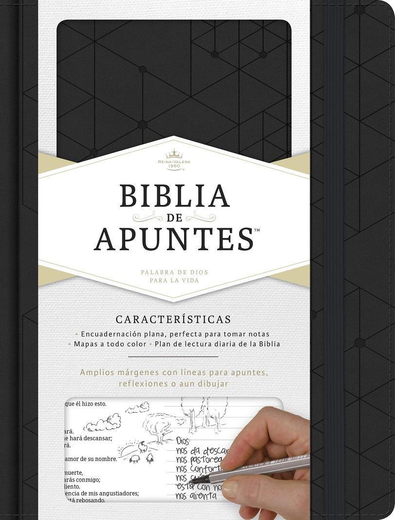 Biblia de Apuntes Reina Valera 1960 Cuero Negro>