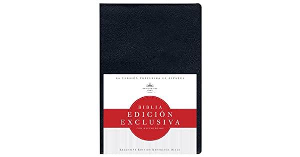 Biblia reina valera 1960 edici�n exclusiva con referencias negro tapa blanda de B&H Espanol