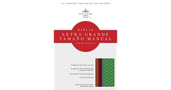 Santa biblia reina valera 1960 chocolate, ciruela y verde jade tama�o manual con referencias de B&H Espanol