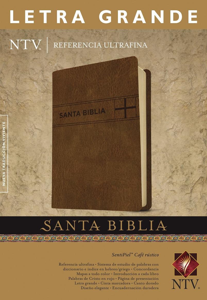 Santa Biblia NTV, Edici�n de referencia ultrafina, letra grande, Caf� r�stico>
