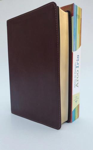 Biblia Arco Iris Cuero Caf�>