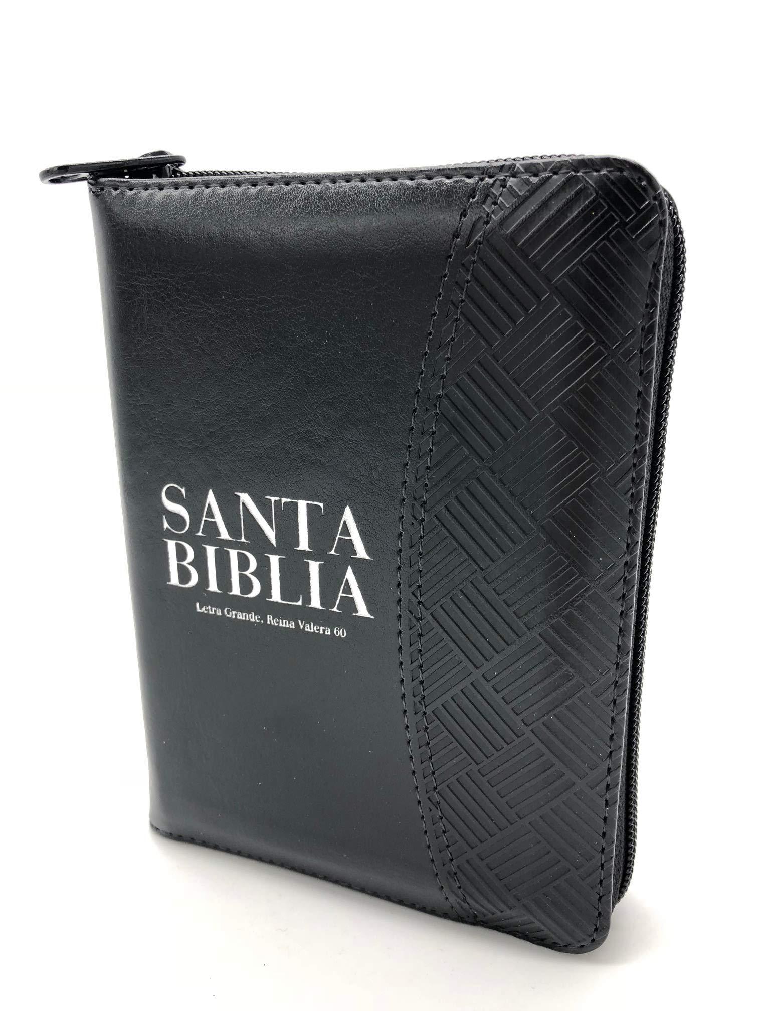 Biblia Reina Valera 1960 / Tama�o bolsillo / con cierre / �ndice / Bicolor negro>
