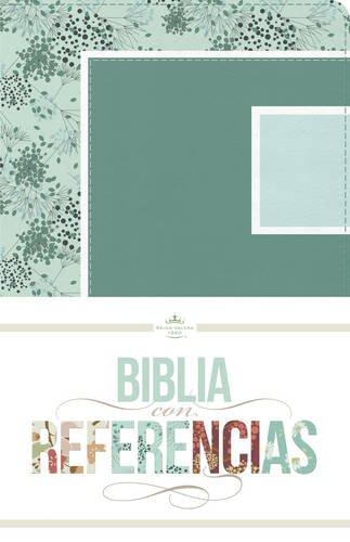 RVR 1960 Biblia con Referencias, abstracto, verde mar/celeste s�mil piel>