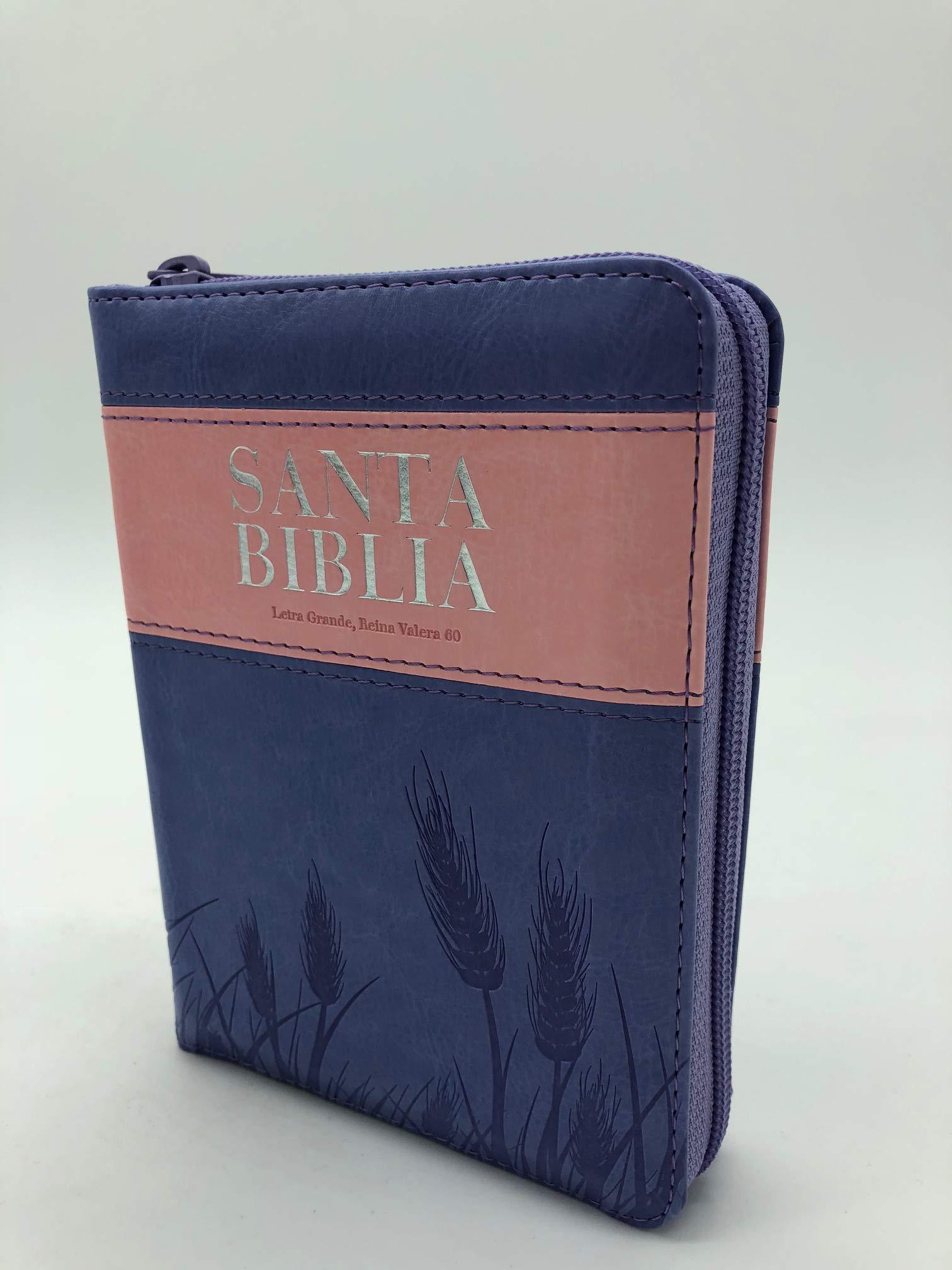 Biblia Reina Valera 1960 / Tama�o bolsillo / con cierre / �ndice / Rosa Violeta>