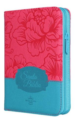 Biblia Compacta Peque�a - Reina-Valera 1960 - fucsia floral con indice y zipper>