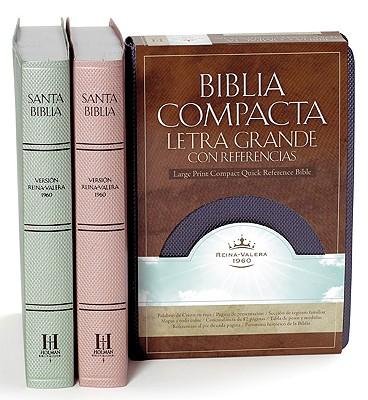 Biblia Compacta Letra Grande con Referencia simulacion piel de Reina Valera 1960