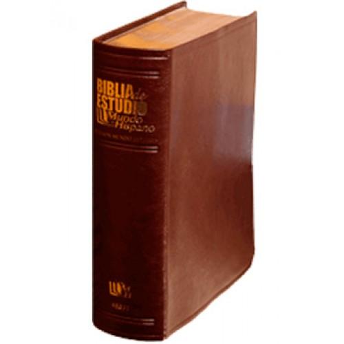 Biblia Mundo Hispano de Estudio/Cuero