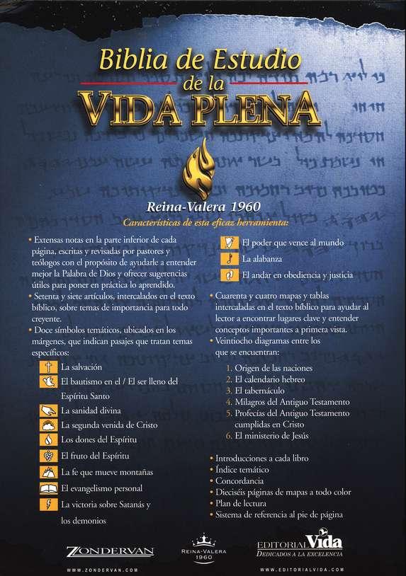 Biblia de estudio de la Vida Plena RVR 1960 Tapa Dura>