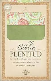 Biblia Plenitud Manual Cuero Verde