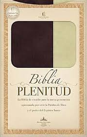 Biblia Plenitud Manual Cuero Marrón Crema